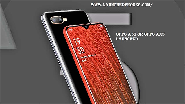mobile weep upward launched amongst Red in addition to Black color variants Oppo A5s(Ax5) launched amongst 6.2 Inches display