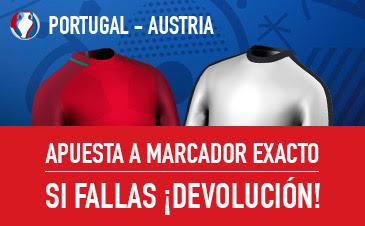 sportium bono 25 euros Eurocopa 2016 Portugal vs Austria 18 junio