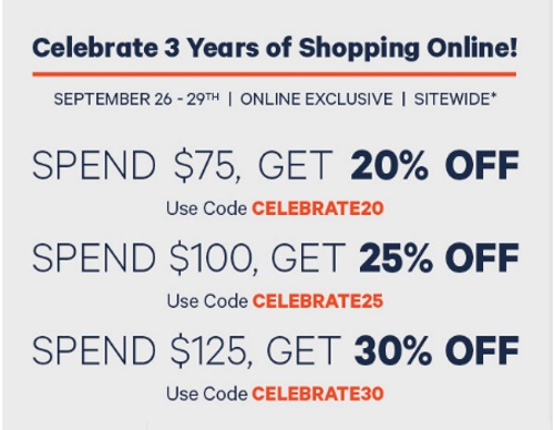 Joe Fresh 3 Years of Shopping Online Up To 30% Off Promo Codes