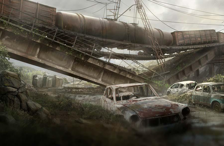 Ilustración, Post apocaliptic road de Max Durán