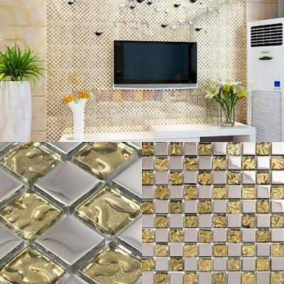 gold crystal glass tile bathroom tiles kitchen backsplash silver plated glass mosaic sheets