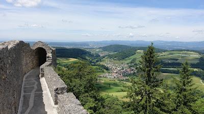 Blick von der Ruine Farnsburg auf das Dorf Buus