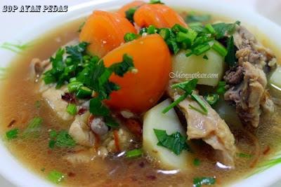 Cara Membuat Sup Ayam Pedas