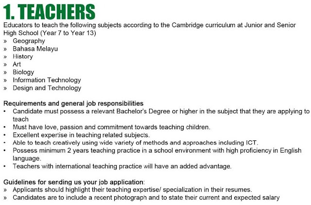 Teaching Vacancies at St Joseph International School