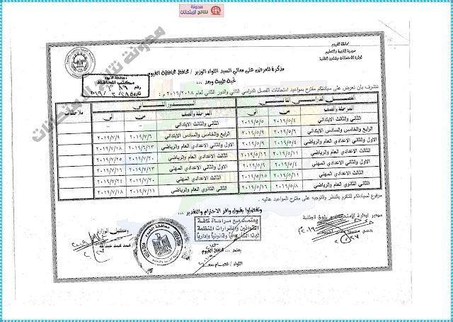 جدول امتحانات الابتدائية والاعدادية والثانوية بمحافظة الفيوم 2019 اخر العام