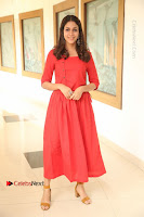 Actress Lavanya Tripathi Latest Pos in Red Dress at Radha Movie Success Meet .COM 0049.JPG