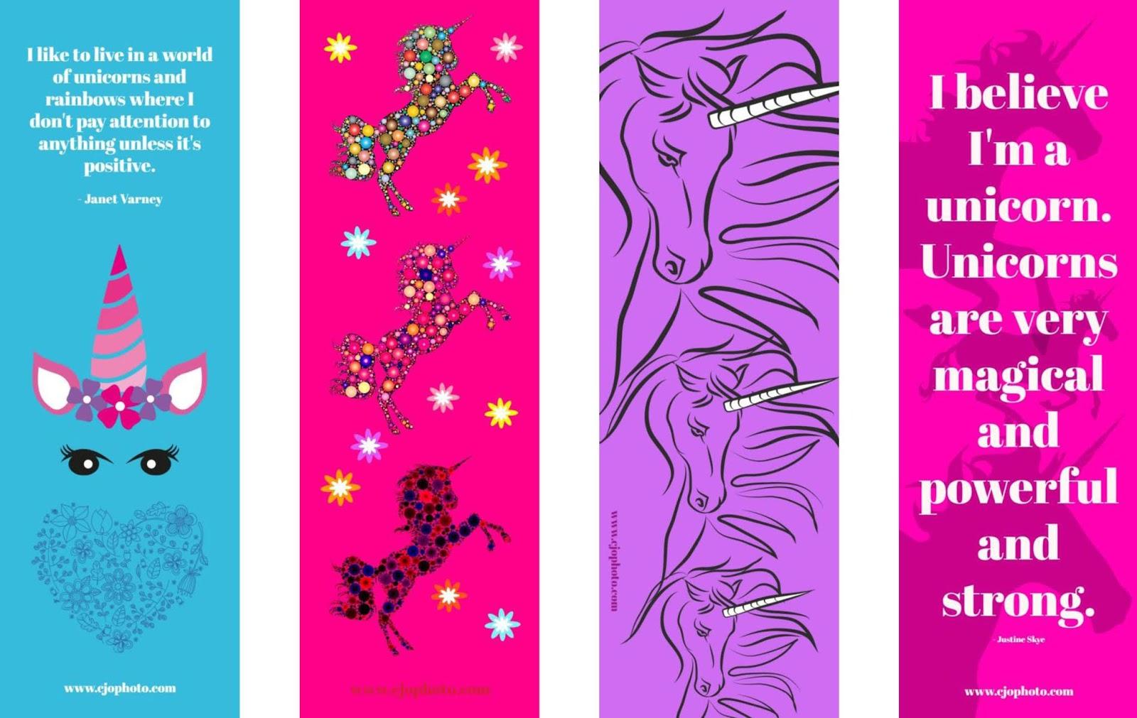 printable unicorn bookmarks # 24