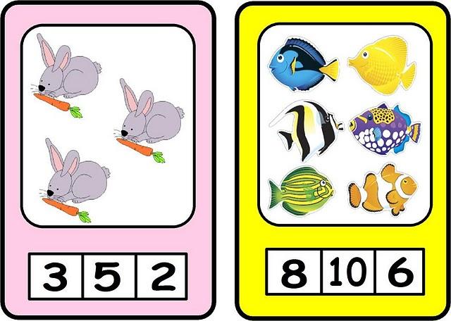 Trabalhando Quantidades Fichas Coloridas Para Imprimir Aprender