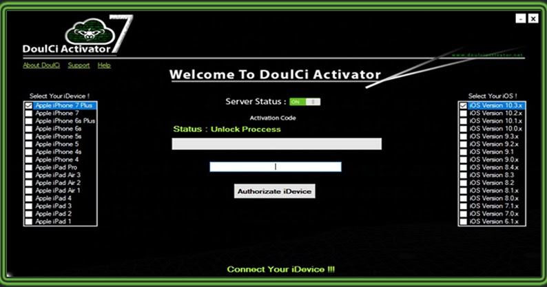 doulci activator v7 username and password