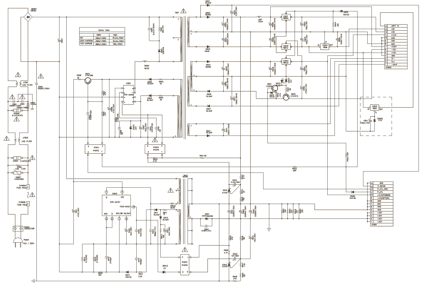 lg lh t550 xh tk750 dvd cd karaoke receiver circuit. Black Bedroom Furniture Sets. Home Design Ideas