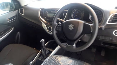 Baleno car interior - side view