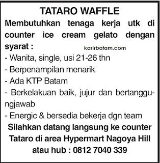 Lowongan Kerja Tataro Waffle Nagoya Hill