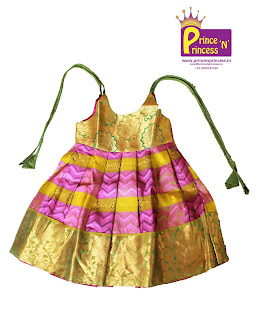 New Born Silk pattu pavadai langa girls kids
