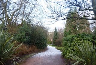 Jardines del palacio de Holyroodhouse.