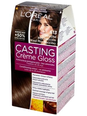 Środowy post! Farbowanie włosów. L'oreal Casting Mroźne Mochaccino 613 .