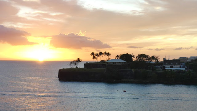 Sonnenuntergang vor Martinique
