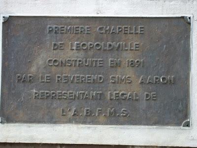 ,CONSTRUIT ,1891,, ,REVEREND ,SIMS AARON ,,L'ABFMS,PREMIERE CHAPELLE , LEOPOLDVILLE ,CONSTRUIT ,