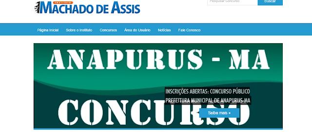 Atenção! Inscrições abertas para o Concurso Público de Anapurus