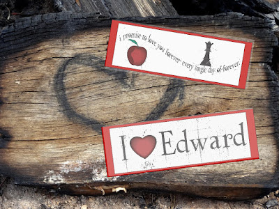 Save your place and show your Twilight love with these four printable bookmarks.  Grab yours now and share some vampire love.