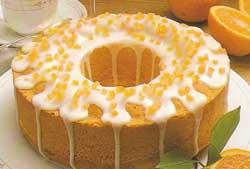 Tortas su apelsinų glajumi