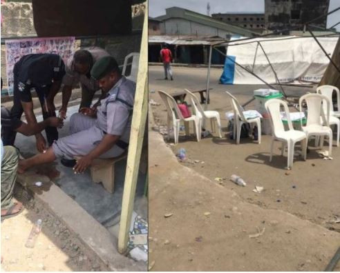 #NIGERIAVOTES: Touts just came to scatter everywhere in my polling unit in Okota, Lagos' - Twitter user.
