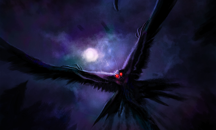 humanoides voadores, homem mariposa