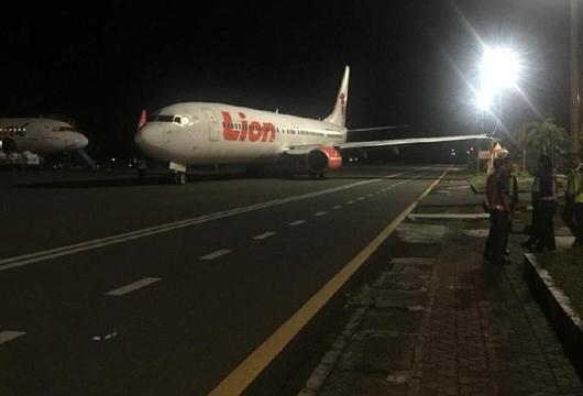 Lion Air: Sayap Pesawat Senggol Tiang Lampu Dipandu Petugas Bandara