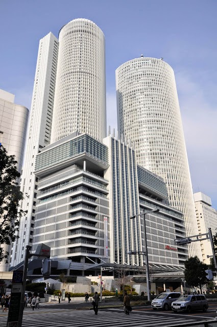 Looking towards Nagoya Railway Station. It is the Headquarters of Central Railways Japan as well as office spaces along with the Takashiyama Department Store and the Nagoya Marriott
