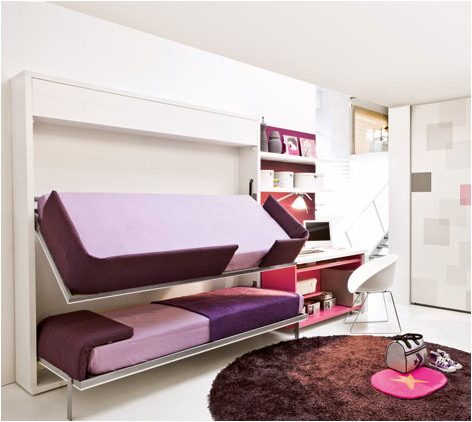 Stylish bunk beds for young girls room design ideas for Best beds for teenager