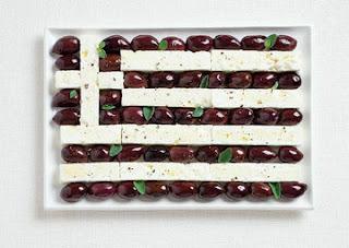 Makanan Unik bendera yunani