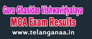 Guru Ghasidas Vishwavidyalaya MCA-2nd Sem June 2016 Exam Results