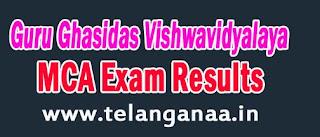 Guru Ghasidas Vishwavidyalaya MCA-2nd Sem June 2016 Exam Results