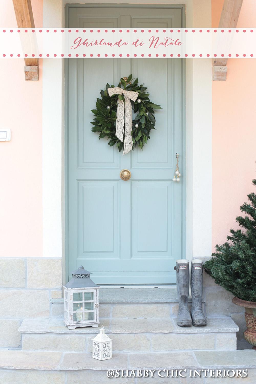 Palline Di Natale Con Rametti tutorial ghirlanda di natale - shabby chic interiors