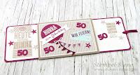 Ziehkarte zum 50. Geburtstag, Anleitung Ziehkarte, Geburtstagskarte basteln, Karte 50. Geburtstag Frau, stampin up bestellen, Stempel-biene, Srapbookkarte, Stampin  up Wir Feiern, Stampin up Geburtstagskracher, Luftballonkarte basteln
