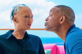 Will Smith and Sophia the robot date