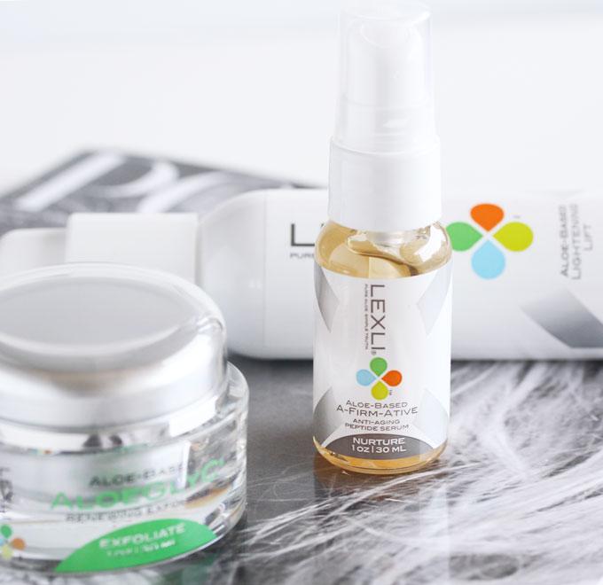 Lexli A-Firm-Ative, Lexli Skincare, Lexli Aloe Based Skincare, Lexli AloeGlyC, Lexli Aloe Based Lightening Lift,