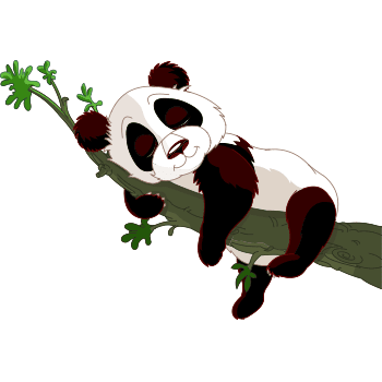Sleeping panda emoji