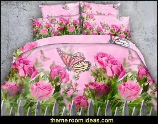 floral bedding - flowers pillows - floral duvet covers - Floral Bedding Sets - flower theme bedding - Floral Print Bedding
