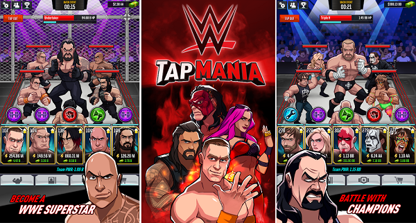 Download WWE Tap Mania Mod Apk Unlimited Money