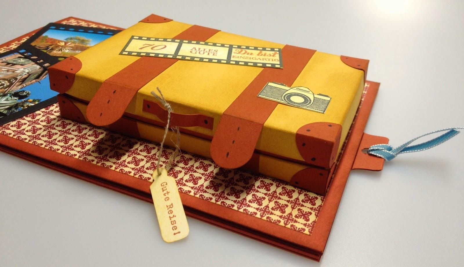 kreativstudio annett reisegutschein zum 70. Black Bedroom Furniture Sets. Home Design Ideas