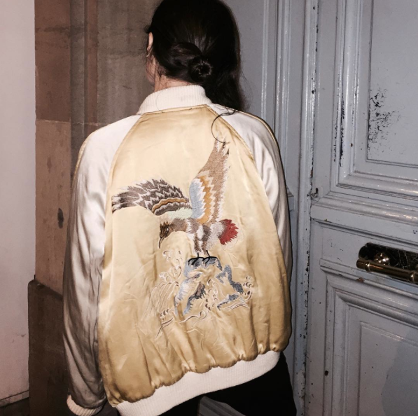 Bomber jacket || silk, embroidery, bombers, style, inspiration, spring 2016, trends, outerwear || Allegory of Vanity