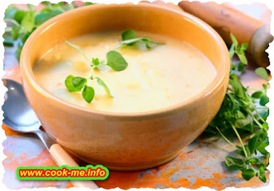 Cream of celery soup with egg white