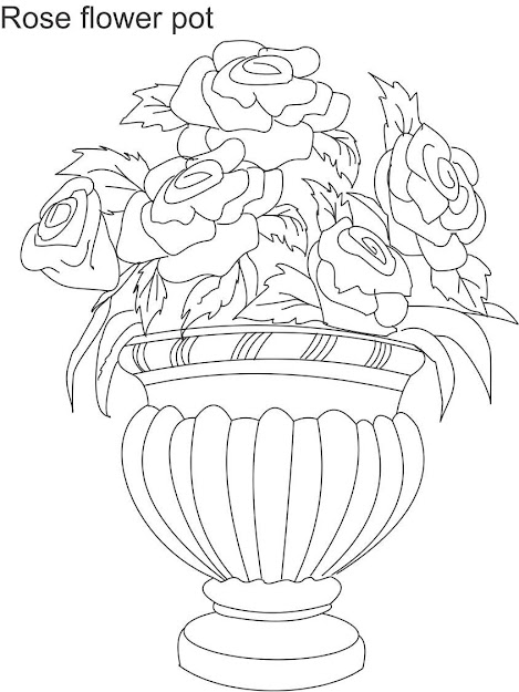 Easy Flower Vase Drawing  Easy Flower Vase Drawing For Kids  Images  About Flower Drawings