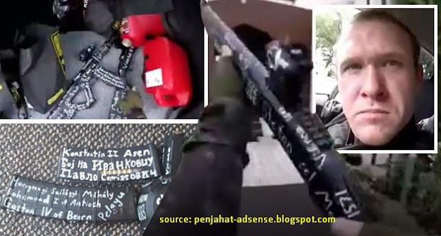 new zealand senjata penembak terror masjid