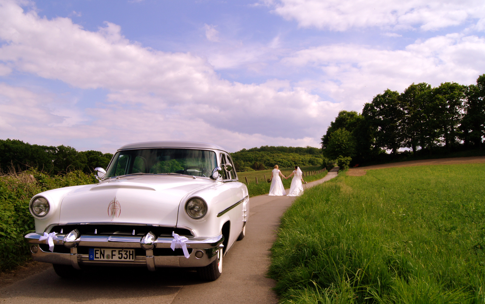Hochzeitsfahrt NRW Brautauto Hochzeitsauto Oldtimer