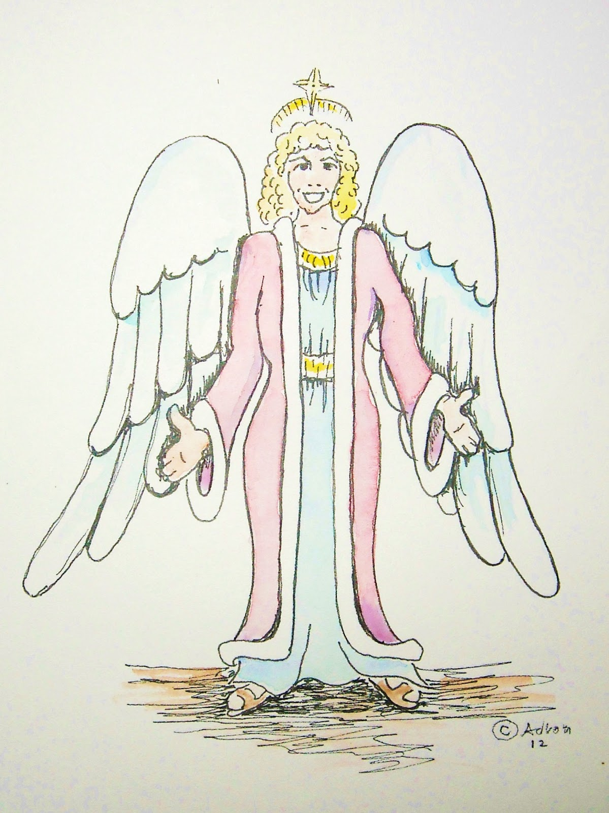 Uncategorized How To Draw A Christmas Angel how to draw worksheets for the young artist december 2012 christmas angle