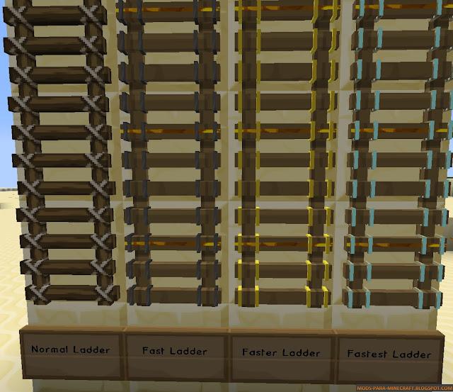 Escaleras más rápidas y con texturas - FastLadder Mod para Minecraft 1.8