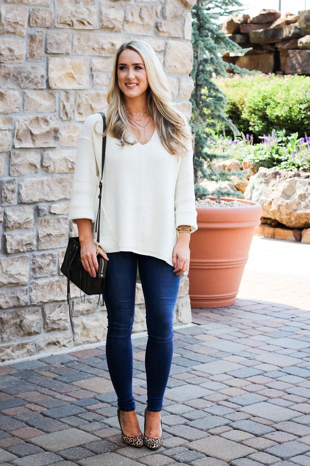 The Blue Diamond: Cuff Sleeve Pullover Sweater (50% off!)