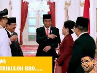 Beginilah Tingkah Prabowo Ketika Ibu Iriana Jokowi Minta Foto Bareng