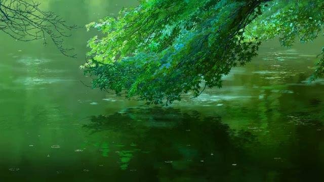 Download The Garden of Words-Rainy Pool Wallpaper Engine